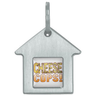 Cops Blue Cheese Pet Name Tag