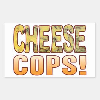Cops Blue Cheese Rectangular Sticker