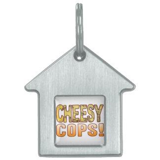 Cops Blue Cheesy Pet Name Tag