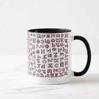 Coptic alphabet mug