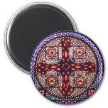Coptic Cross 6 Cm Round Magnet