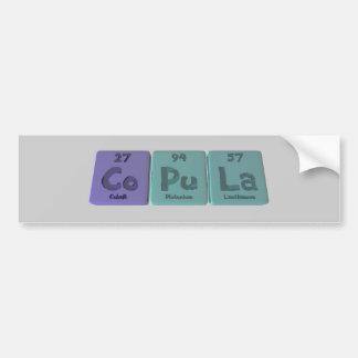 Copula-Co-Pu-La-Cobalt-Plutonium-Lanthanum.png Bumper Sticker