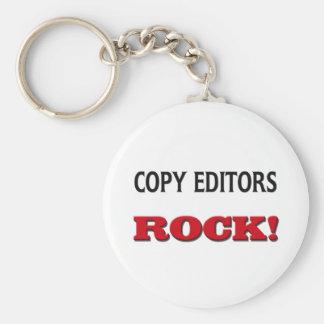 Copy Editors Rock Basic Round Button Key Ring
