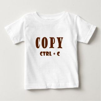 Copy Keyboard Shortcut Baby T-Shirt