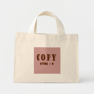 Copy Keystroke Mini Tote Bag