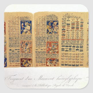 Copy of a fragment of the Dresden Codex Square Sticker