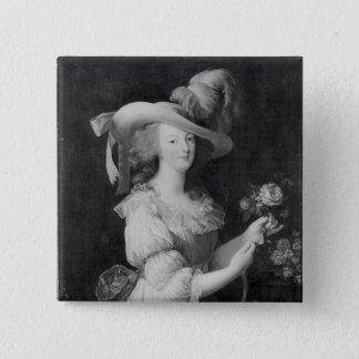 Copy of a Portrait of Marie-Antoinette 15 Cm Square Badge