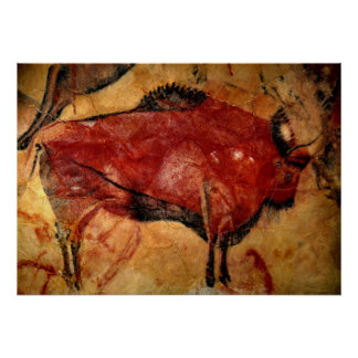 Copy of Bison Cave Painting Print