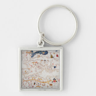 Copy of Catalan Map of Europe, North Africa Keychains