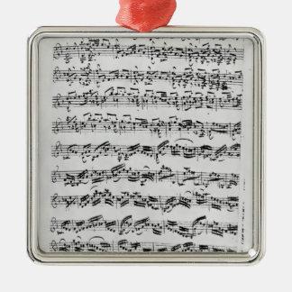 Copy of 'Partita in D Minor for Violin' Christmas Ornament
