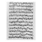 Copy of 'Partita in D Minor for Violin' Postcard