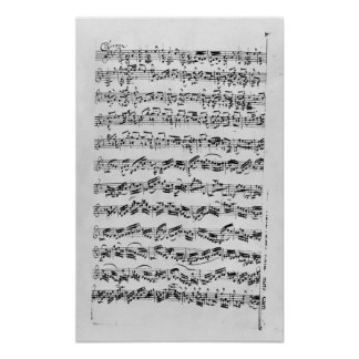 Copy of 'Partita in D Minor for Violin' Poster