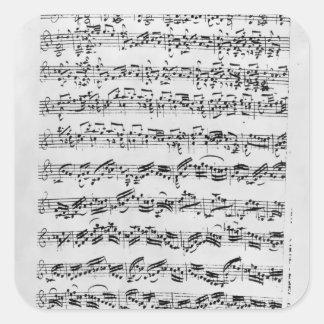 Copy of 'Partita in D Minor for Violin' Square Sticker