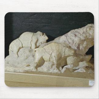 Copy of sculpture of bisons, Le Mouse Mat