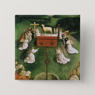 Copy of The Adoration of the Mystic Lamb 15 Cm Square Badge