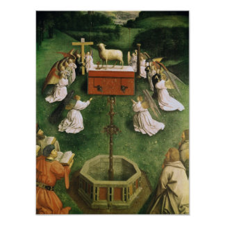 Copy of The Adoration of the Mystic Lamb Poster