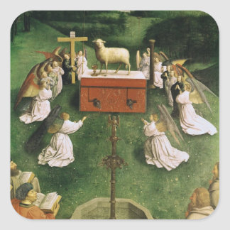 Copy of The Adoration of the Mystic Lamb Square Sticker