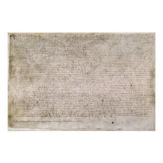 Copy of the Magna Carta Replica Print