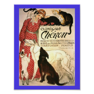 Copy of Vintage 1905 French Veterinary Clinic Ad Poster