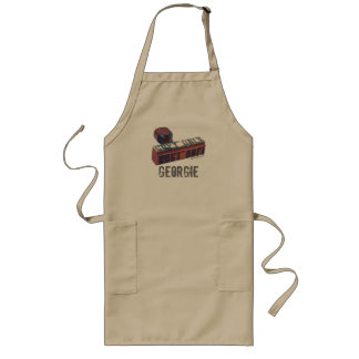 Copy Only Stamp. Long Apron