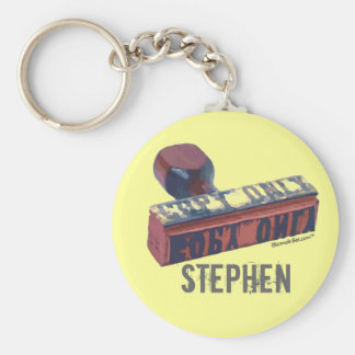 Copy Only Stamp. Basic Round Button Key Ring
