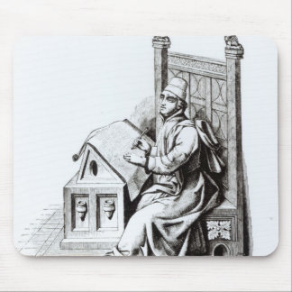 Copyist Writing upon a Sheet of Vellum Mouse Pads