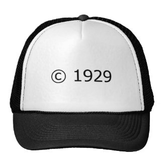 Copyright 1929 mesh hats