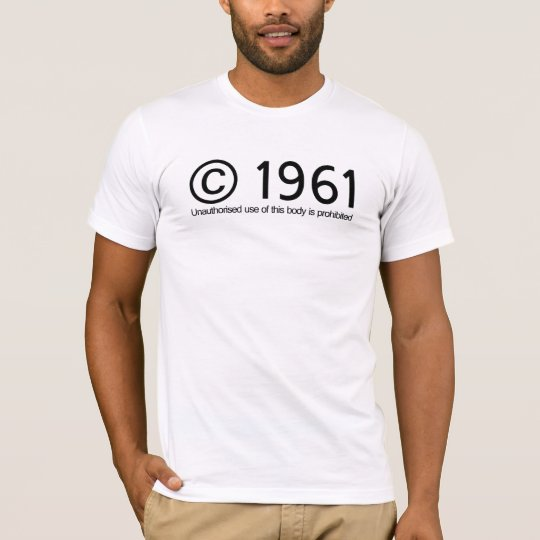 Copyright 1961 Birthday T-Shirt