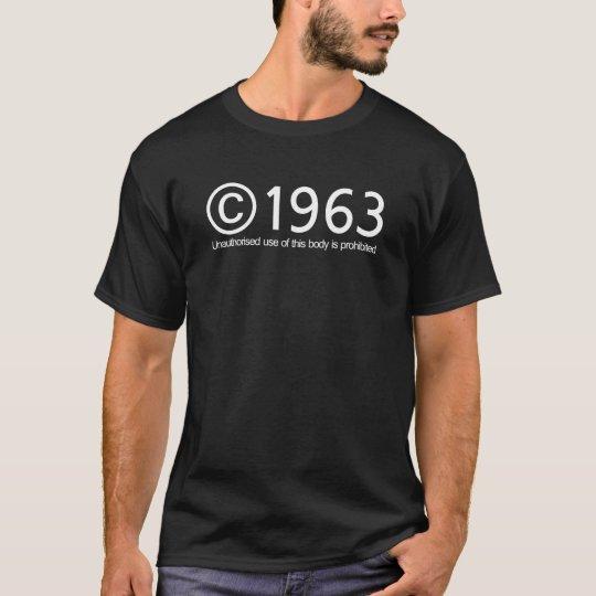 Copyright 1963 Birthday T-Shirt
