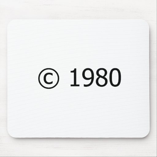 Copyright 1980 mouse pad