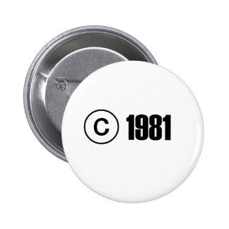 Copyright 1981 pins