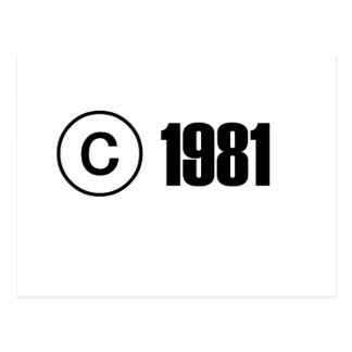 Copyright 1981 postcard