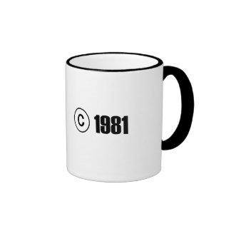 Copyright 1981 ringer mug