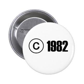 Copyright 1982 pinback button