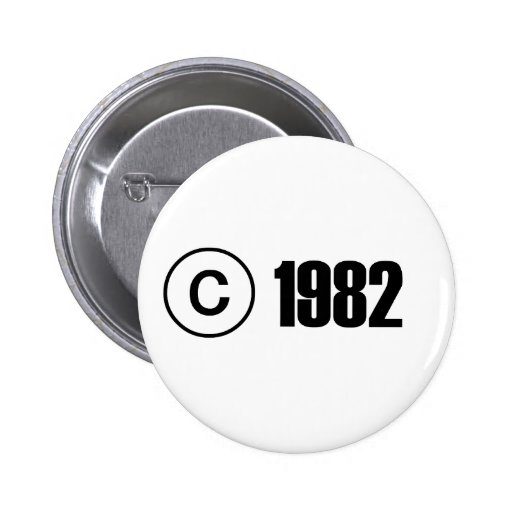 Copyright 1982 buttons