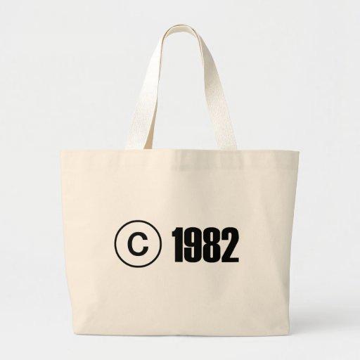 Copyright 1982 tote bags