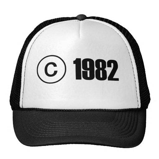 Copyright 1982 hat