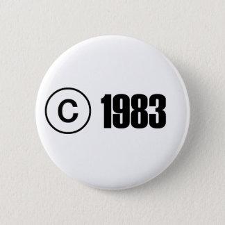 Copyright 1983 6 cm round badge