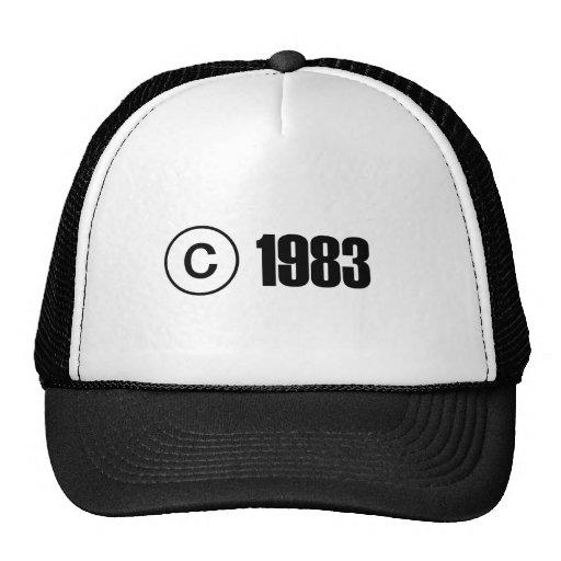 Copyright 1983 mesh hats
