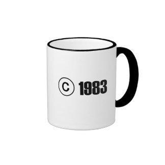 Copyright 1983 ringer coffee mug