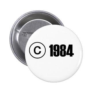Copyright 1984 pinback button