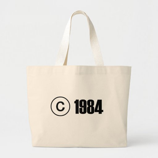Copyright 1984 canvas bag