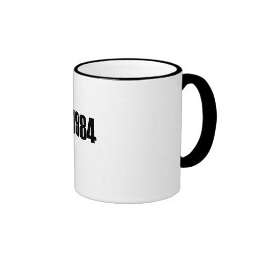 Copyright 1984 coffee mug