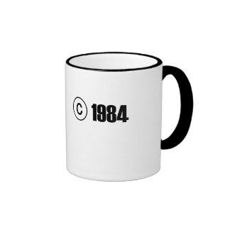Copyright 1984 ringer coffee mug