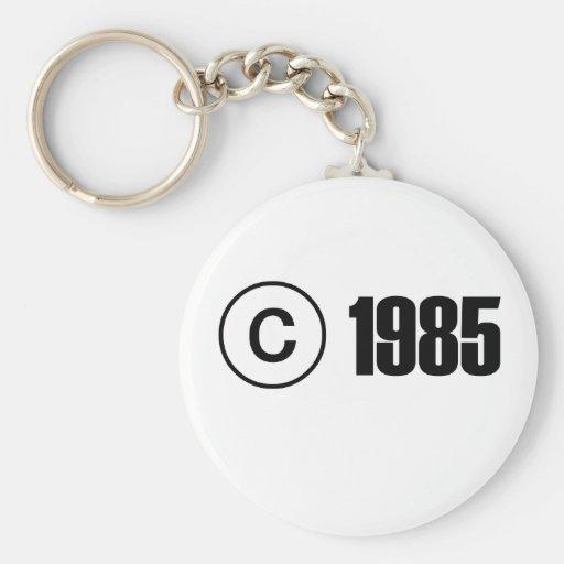 Copyright 1985 key chain