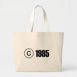 Copyright 1985 tote bag
