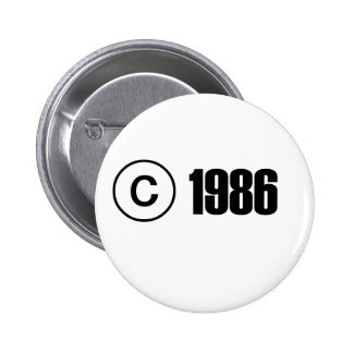 Copyright 1986 buttons