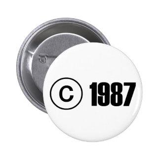 Copyright 1987 pins