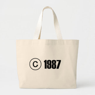 Copyright 1987 tote bags