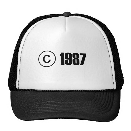 Copyright 1987 trucker hats